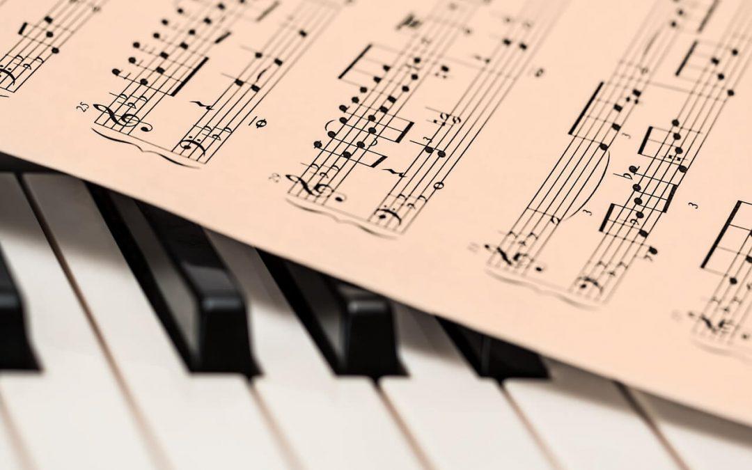 score on piano